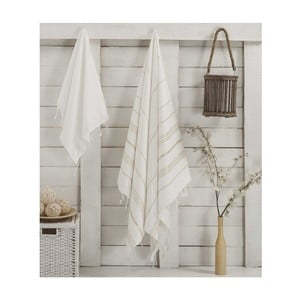 Sada 2 hammam ručníků Sultan White Gold