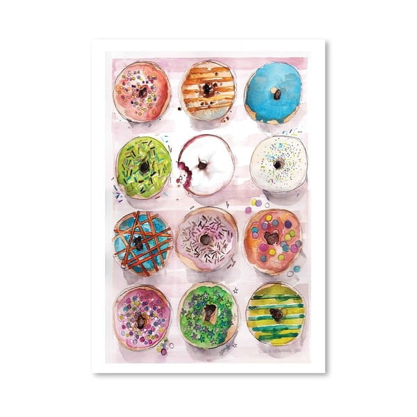 Plakát Donuts, 30x42 cm