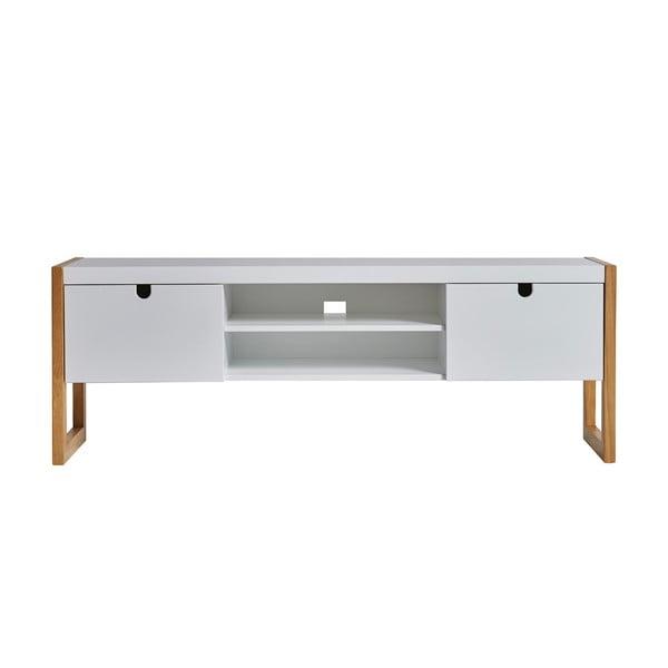 Biała szafka pod TV Marckeric Square, 140x45 cm