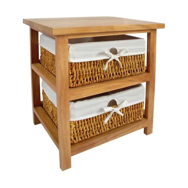Police s úložnými košíky Honey, 2 šuplíky