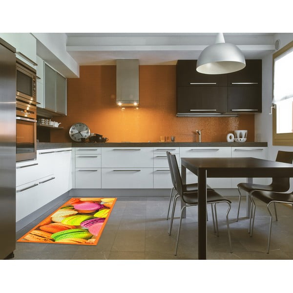 Covor pentru bucătărie foarte rezistent Floorita Macarons, 60x140cm