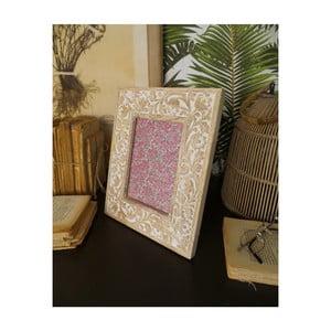 Sada 2 rámečků z mangového dřeva Orchidea Milano Classic, výška 28 cm