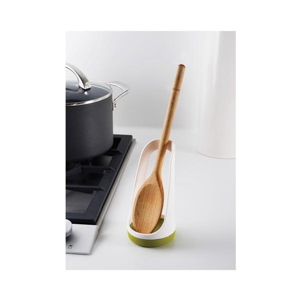 Zeleno-bílý stojánek k odložení kuchyňských nástrojů Joseph Joseph