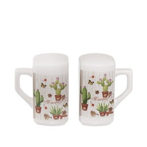 Keramická slánka a pepřenka Kasanova Cactus