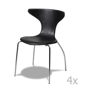 Sada 4 černých židlí Furnhouse Suki