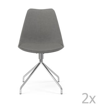 Set 2 scaune Tenzo Gina Star, gri de la Tenzo