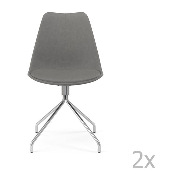 Set 2 scaune Tenzo Gina Star, gri
