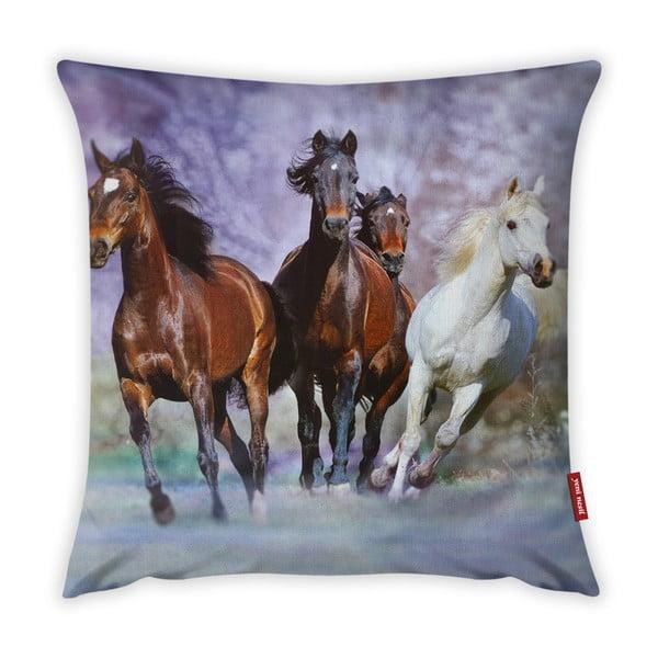 Față de pernă Vitaus Horses, 43 x 43 cm