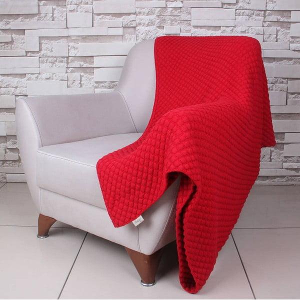 Červená bavlněná deka Ciana
