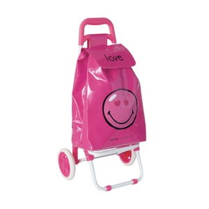 Nákupní taška pro děti s kolečky Smiley Love
