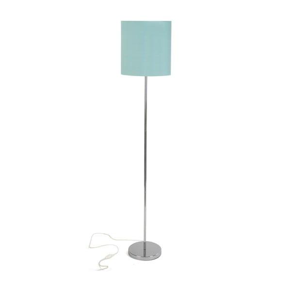 Světle tyrkysová stojací lampa Versa Aquamarina, výška 148 cm