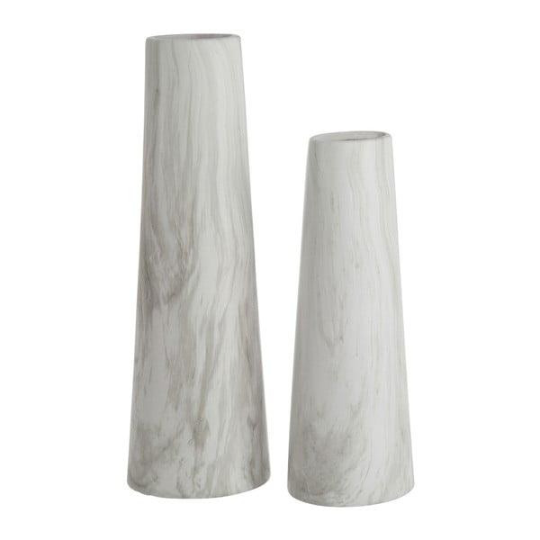 Váza Cylinder White, 36 cm