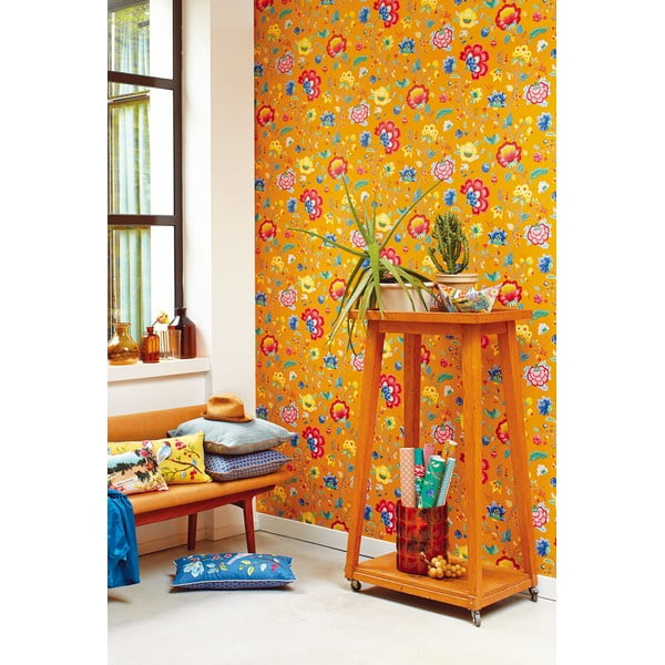 Tapeta Pip Studio Floral Fantasy, 0,52x10 m, žlutá
