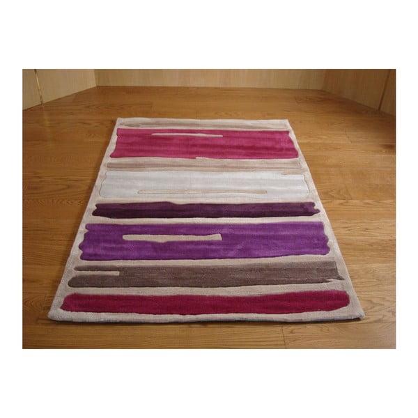 Koberec Paint Strokes Purple, 160x220 cm