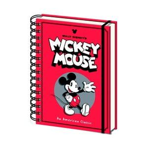 Linkovaný zápisník A5 Pyramid International Mickey Mouse, 80 stran
