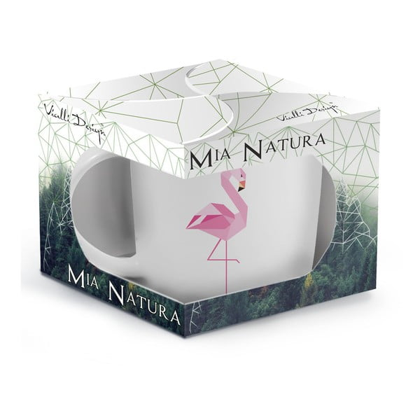 Porcelánový hrnek Vialli Design Wild Flamingo, 370 ml
