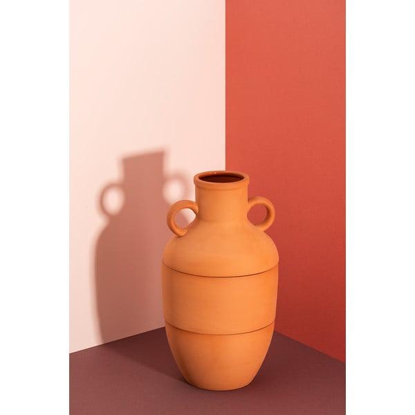 Brązowy wazon ceramiczny DOIY Terracotta, wys. 27 cm