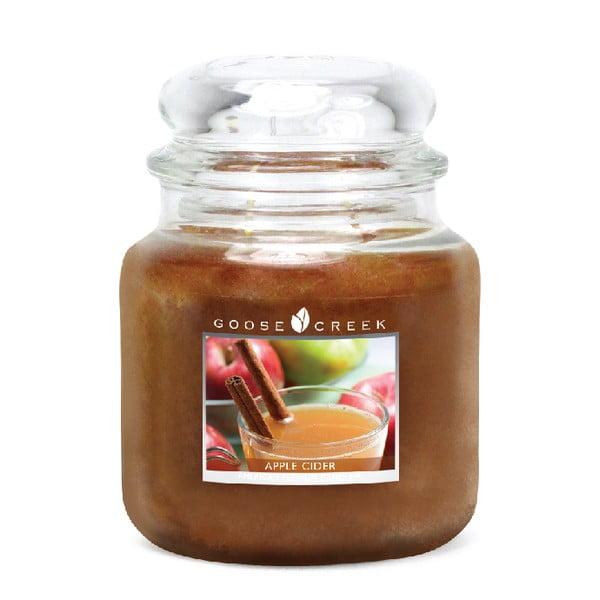 Świeczka zapachowa w szklanym pojemniku Goose Creek Cydr jabłkowy, 75 godz. palenia