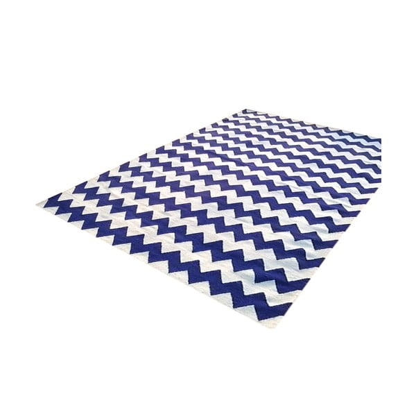 Vlněný koberec Bakero Kilim Design Two Blue, 160x230 cm