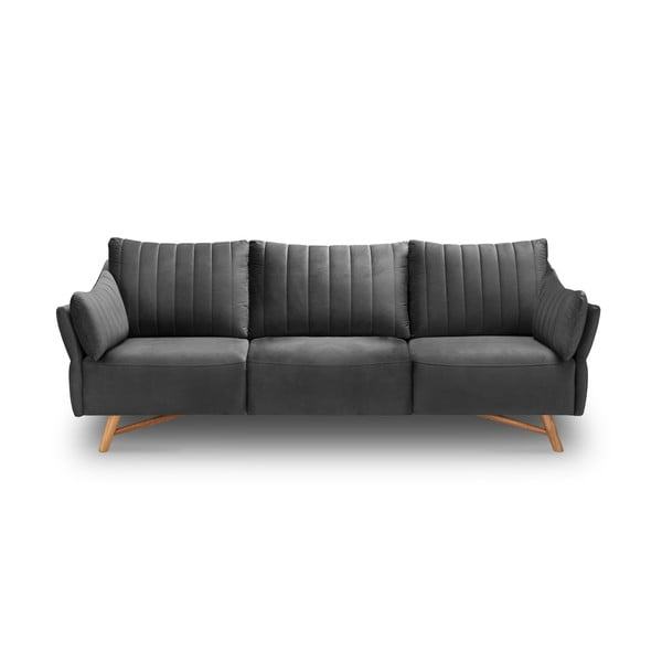 Elysée sötétszürke bársony kanapé, 232 cm - Interieurs 86