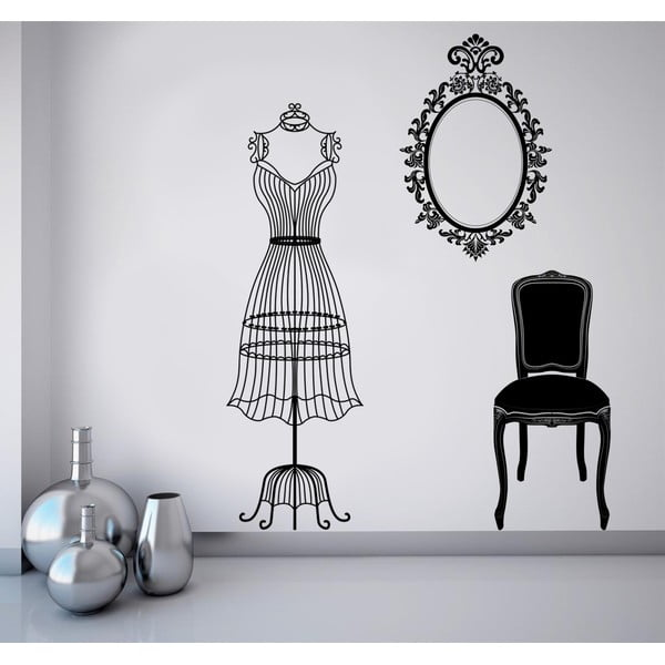 Samolepka na stěnu Šaty, 90x120 cm