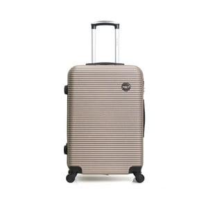 Béžový cestovní kufr na kolečkách BlueStar Porto, 39l