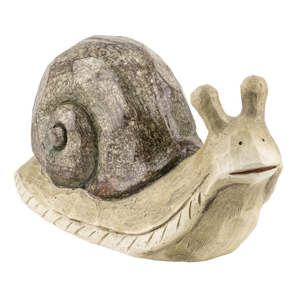 Dekorace z umělé pryskyřice v designu šnek, Ego Dekor, 12 x 17 x 43 cm, hmotnost 2,1 kg