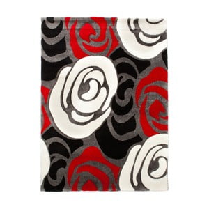 Červenočerný koberec Tomasucci Rose, 140x190cm
