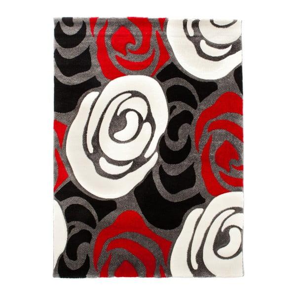 Rose fekete-piros szőnyeg, 140 x 190cm - Tomasucci