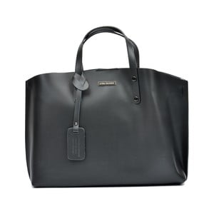 Černá kožená kabelka Luisa Vannini Hailey