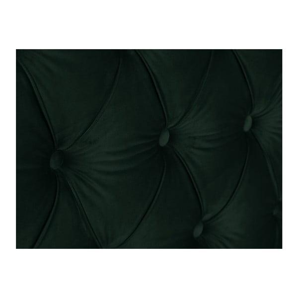 Láhvově zelené čelo postele Mazzini Sofas Anette, 200 x 120 cm