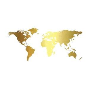Nástěnná samolepka Golden World, 90 x 40 cm