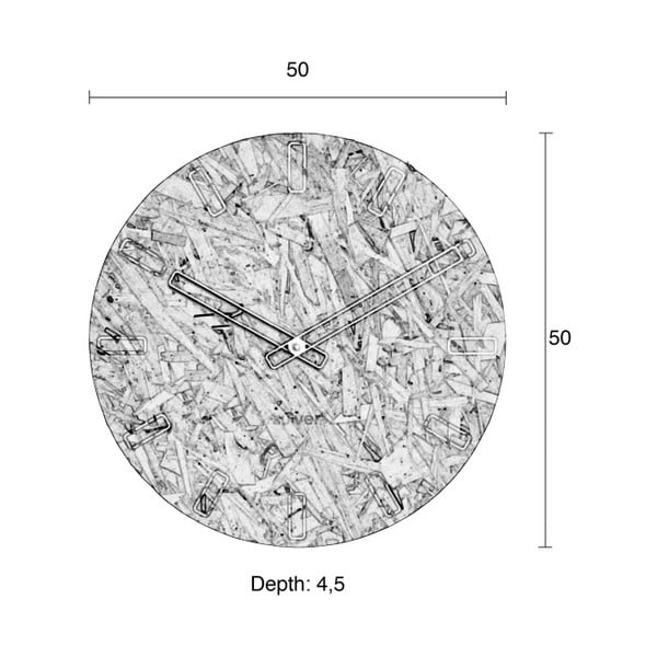 Ceas de perete Zuiver Time, ø 50 cm