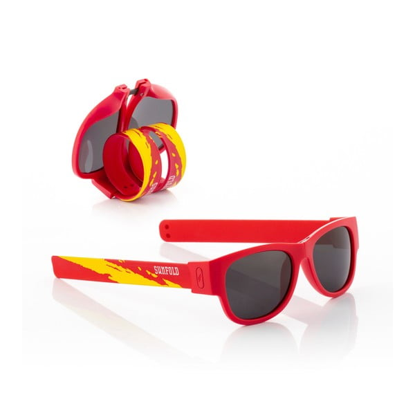 Červené sluneční srolovatelné dětské brýle InnovaGoods Sunfold Kids Mondial Spain