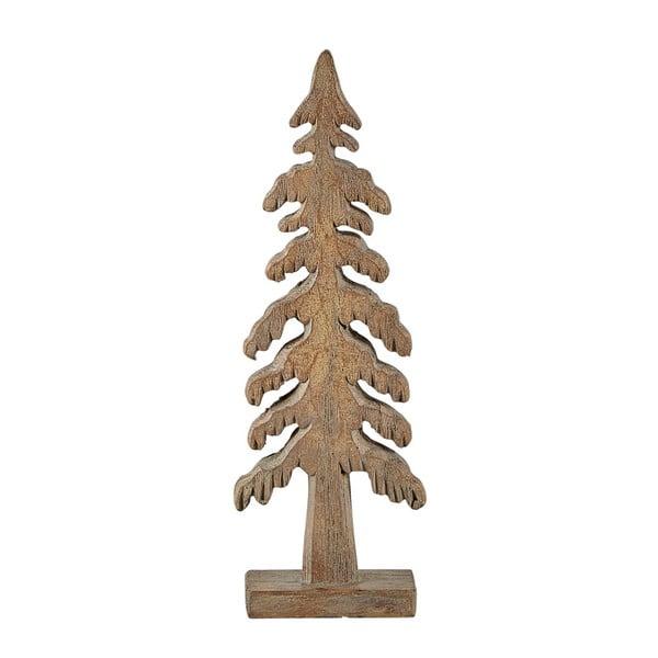 Hnedá dekoratívna soška KJCollection Tree Turo, výška 19 cm