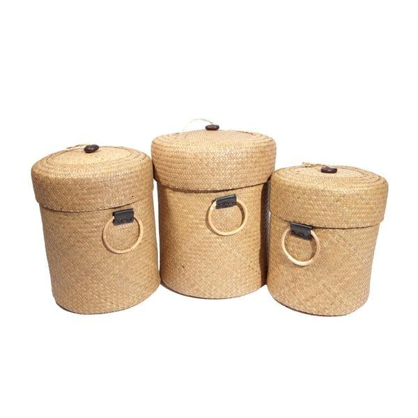 Set 3 košíků Paniers, 50x39 cm