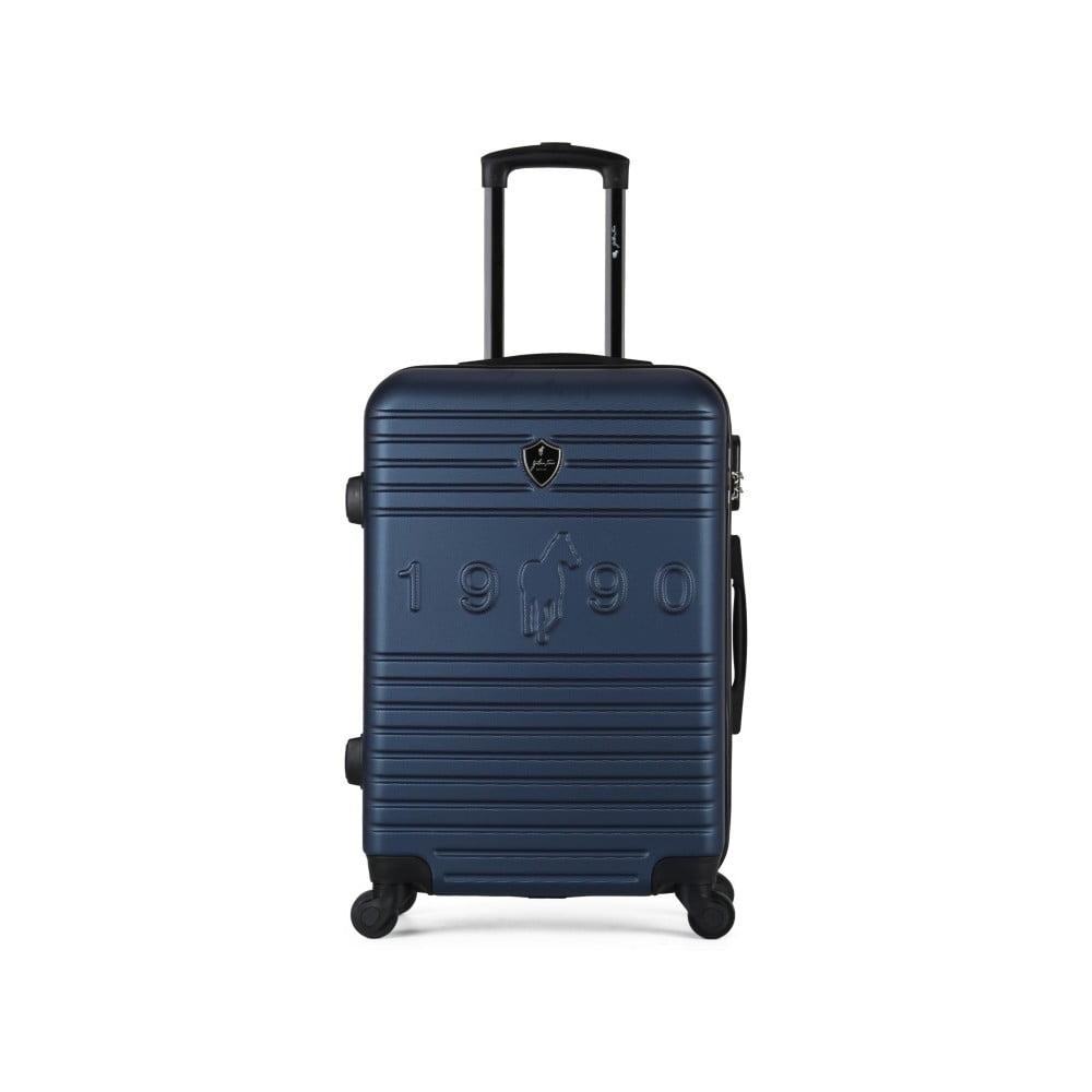 Tmavě modrý cestovní kufr na kolečkách GENTLEMAN FARMER Valise Grand Cadenas Integre, 35 x 55 c