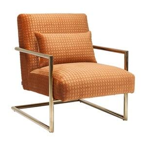 Oranžové křeslo Kare Design Vegas