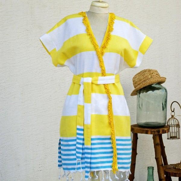 Plážové šaty/župan Pesthemal Yellow