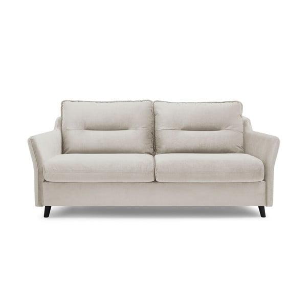 Canapea extensibilă cu 3 locuri Bobochic Paris Loft, crem