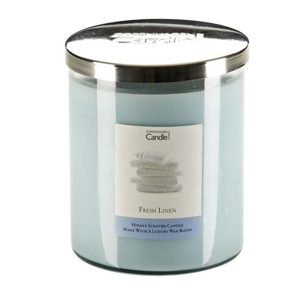 Aroma svíčka Copenhagen Candles  Fresh Linen, doba hoření 70 hodin