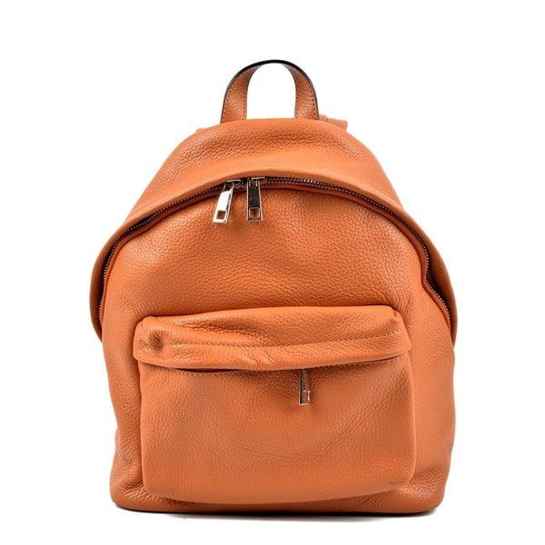 Hnědý kožený batoh Roberta M Amalfi