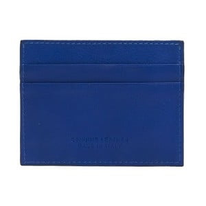 Modrá pánská kožená peněženka na bankovky a karty Billionaire, 8 x 10 cm