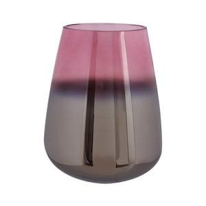 Růžová skleněná váza PT LIVING Oiled, výška 23 cm