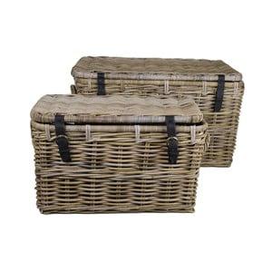 Sada 2 úložných kufrů z koboo ratanu HSM collection Trunk