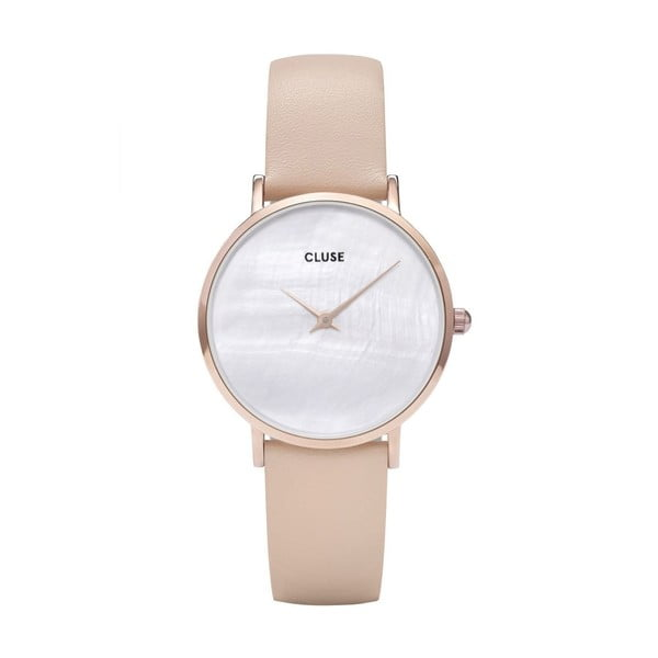 Dámske hodinky s koženým remienkom Cluse Minuit