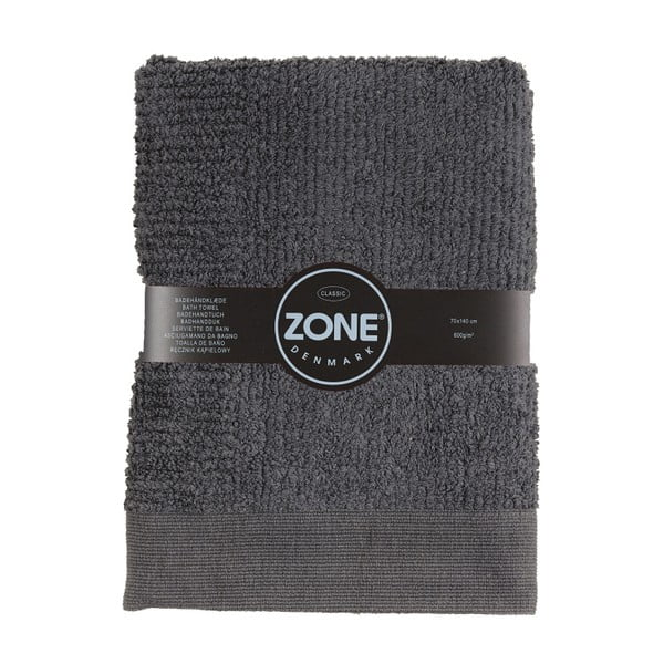 Tmavě šedá osuška Zone Classic 140x70 cm