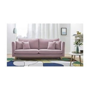 Canapea extensibilă cu 3 locuri Bobochic Paris Triplo, roz