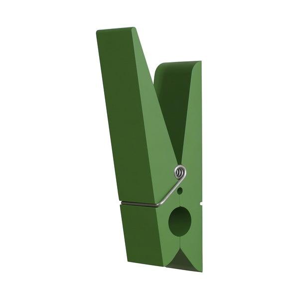 Zelený věšák ve tvaru kolíčku Swab
