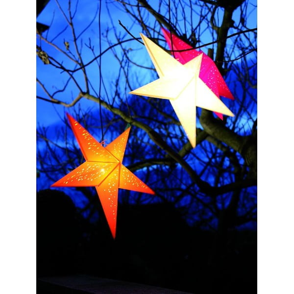 Dekorativní vánoční hvězda Airy Yellow